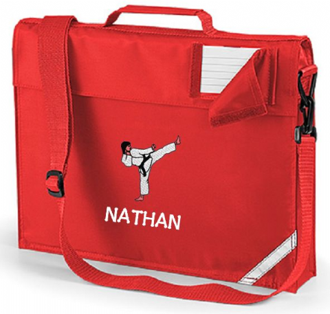 Personalised KARATE School Book Bag